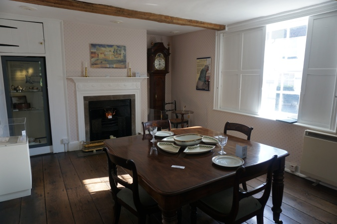 Dining Parlour at Austen House Museum