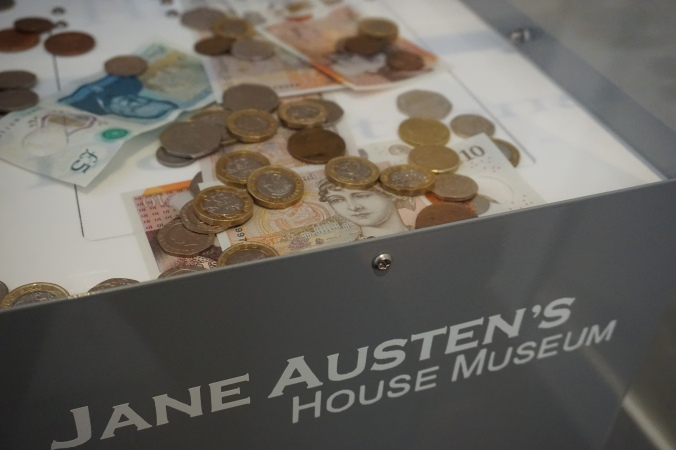 Donations box at Austen House Museum