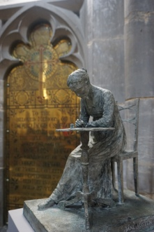 Jane Austen Sculpture at Winchester Cathedral