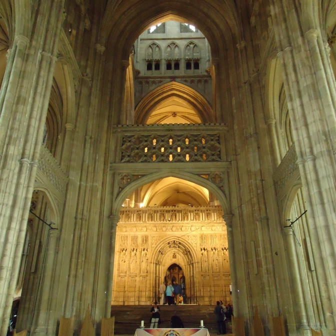 View of the Choir Screen from the Nave