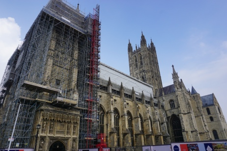 Wide shot of Canterbury Cathedral exterior