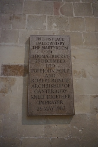 Placard for Thomas Becket
