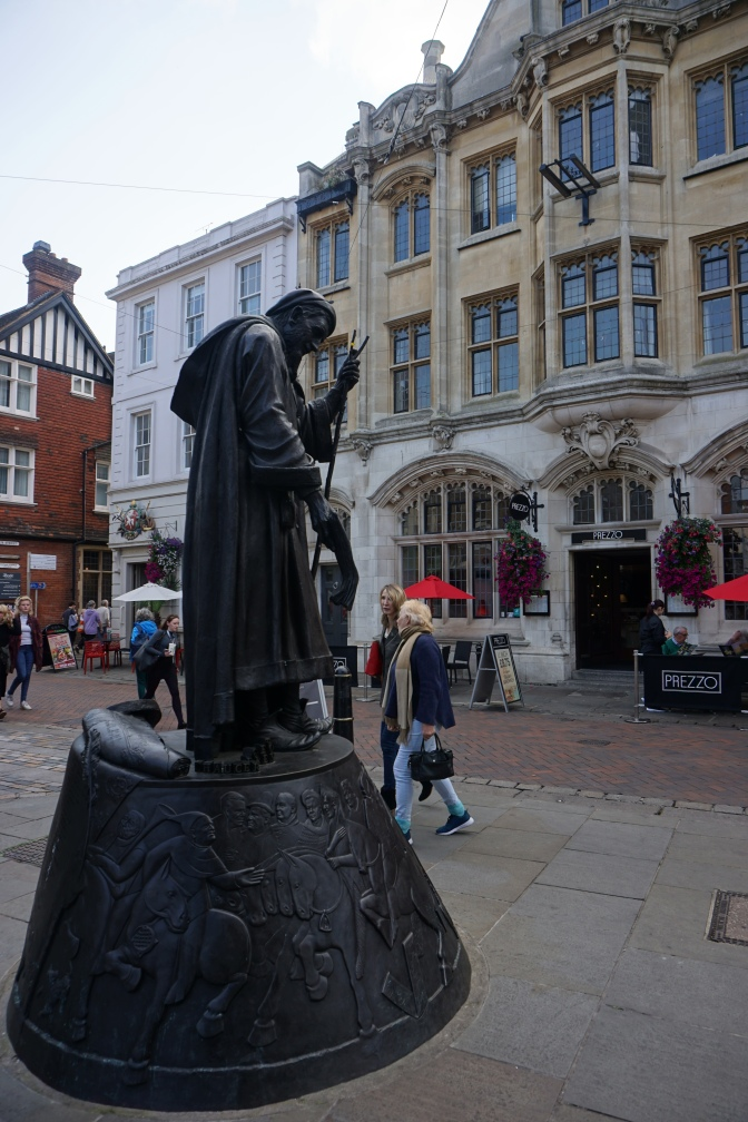Statue of Chaucer on the High Street