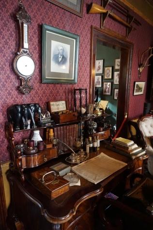 Sherlock's desk in the study
