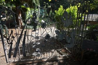 The artsy entrance gate