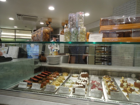 Dessert display case