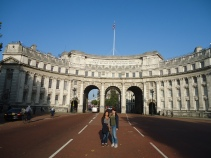 Photo op in front of Admiralty Arch