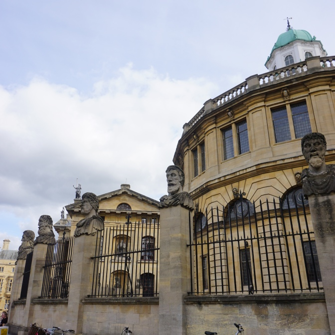 Outside the Sheldonian Theatre