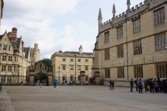 Courtyard to Library with Bridge of Sighs in the background