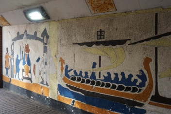 Mosaic in the pedestrian underpass