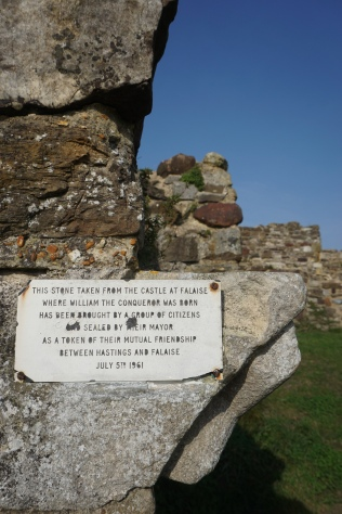 Placard at Hastings Castle