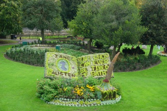 Celebrating Jane Austen (View of Parade Gardens from Pierrepont Street)