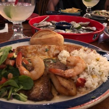 Fish and seafood enchilada (La Margarita)