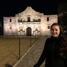 Night visit of the Alamo