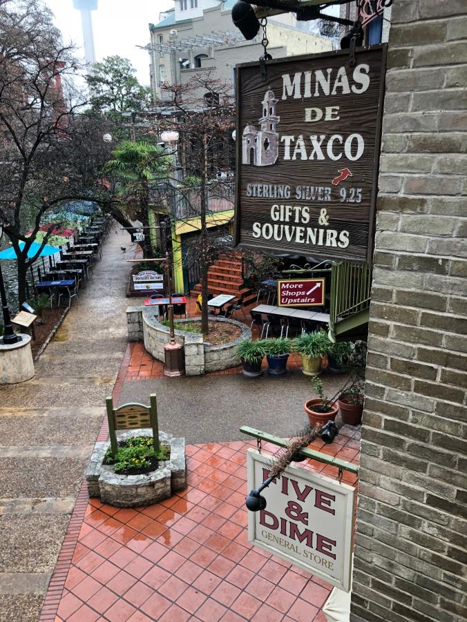 View of the Riverwalk in San Antonio